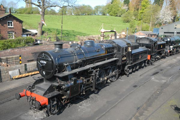 Severn Valley no.43105 at Bridgnorth