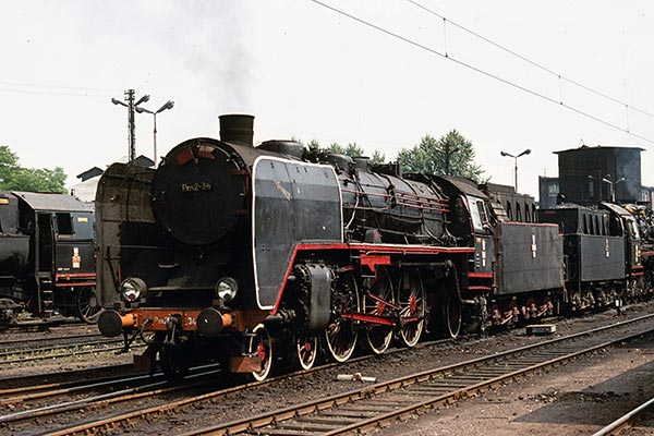 Polish Railways Pm2 class 4-6-2 Pm2.34 at Bydgoszcz in 1975