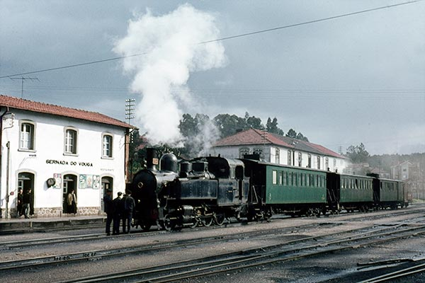Portuguese Railways (CP) 2-6-2T E94 at Sernada da Vouga