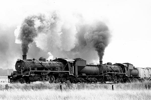 South African Railways class 24 2-8-4's on the Breyten - Lothair branch