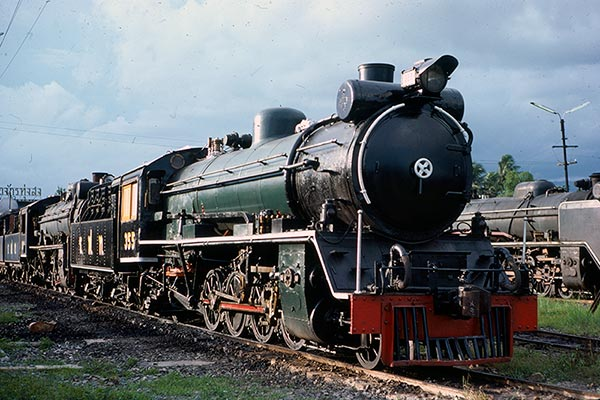 State Railway of Thailand metre gauge 2-8-2 355 at Thung Song