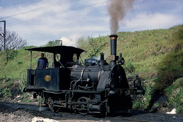 Portuguese Railways 0-4-0T no.003 at Contumil (Porto)