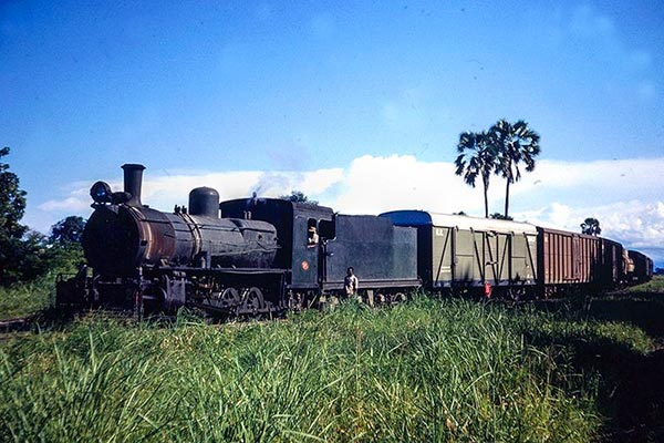 Nyasaland Railways D class 4-8-0 24 at Salima