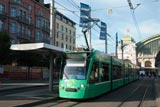 Trams in the city of Basel