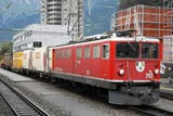 Lunchtime RhB trains at Landquart
