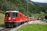 RhB trains in the Lower Engadine