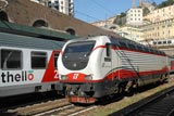 Trains at Genova Piazza Principe station