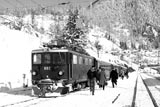 Rhaetian Railway in winter
