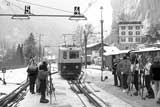 Interlaken to Lauterbrunnen Railways in winter