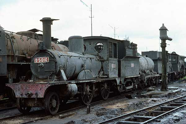 Indonesian Railways B50 class 2-4-0 B5010 at Madiun