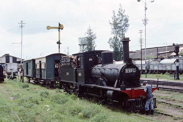 Indonesian Railways B50 class 2-4-0 B5012 at Madiun